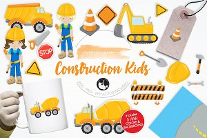 Construction Kids illustration pack