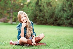 Stylish teenager outdoors