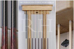 RH Brunswick billiards cue rack