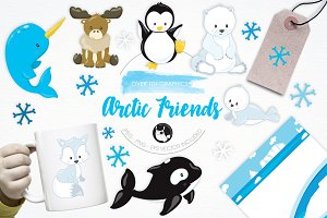 Artic Friends illustration pack