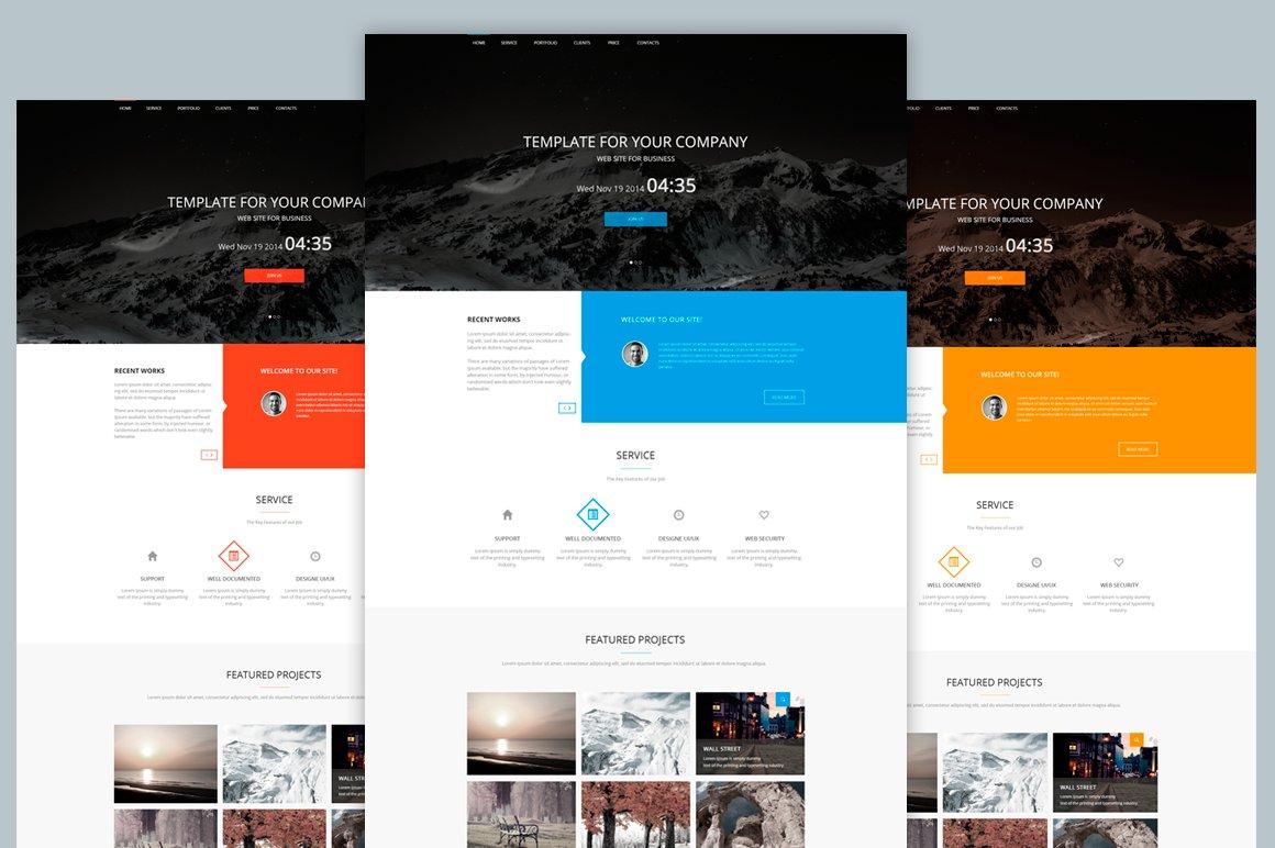 Agency Template Web PSD ~ Website Templates ~ Creative Market