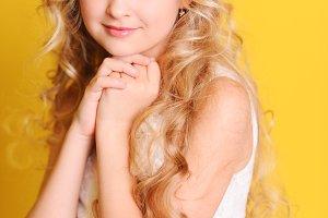 Cute teen girl posing