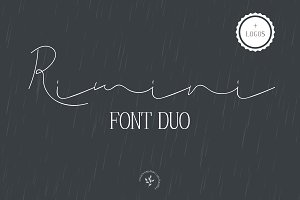 Rimini | Font Duo + Logos