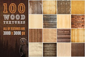 100 Real Wood Textures