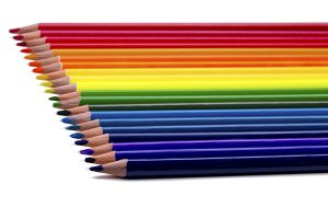 Colored pencil isolated