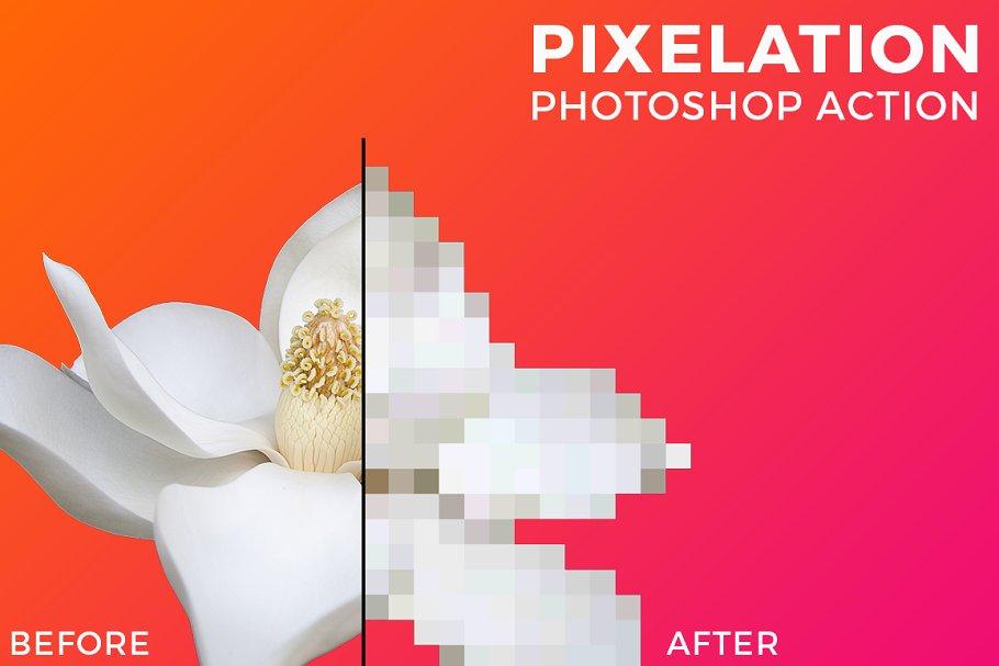 Pixelation Photoshop Action ~ Photoshop Add-Ons ~ Creative Market