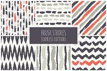 Brush Strokes. Seamless Patterns ▪ 2