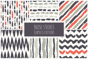 Brush Strokes Seamless Set 2