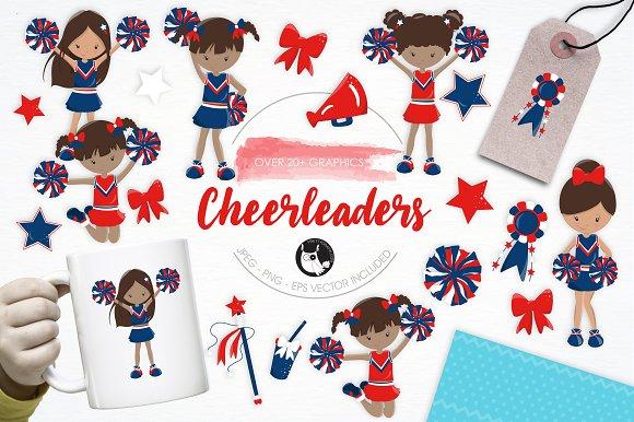 Cheerleaders illustration pack