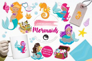 Mermaids illustration pack