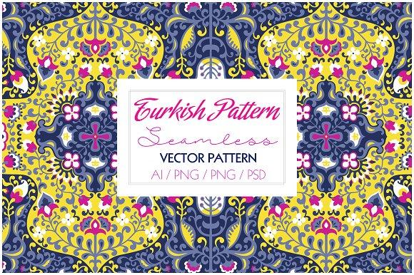 Seamless Turkish Print Graphic Patterns Creative Market Adorable Turkish Pattern