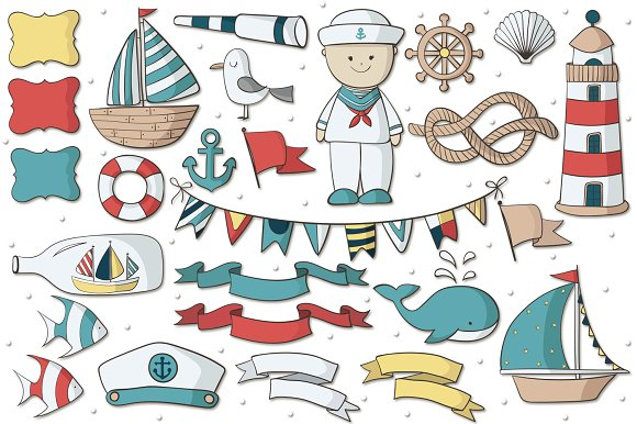 Navy Pack in Illustrations - product preview 1