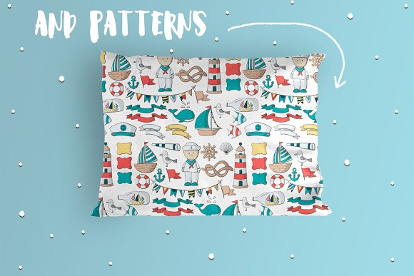 Navy Pack in Illustrations - product preview 3