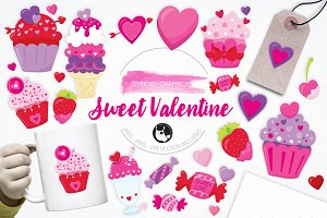 Sweet Valentine illustration pack