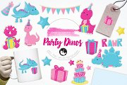 Party Dinos  illustration pack