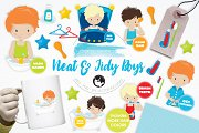 Neat and Tidy Boys illustration pack