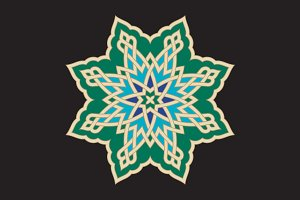 Arabic Interlaced Ornament.