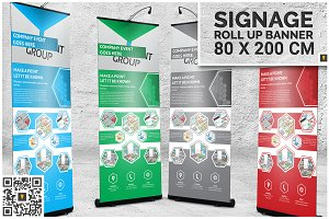 Corporate Hive Roll-Up Banner