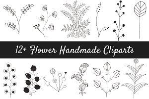 12+ Flower Handmade Clipart
