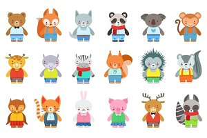 Toy Kids Animals In Clothes