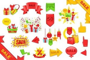 Sale Stickers And Banners Templates Set