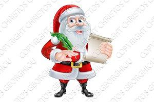 Santa With His List