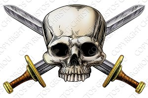 Skull and Cross Swords Sign