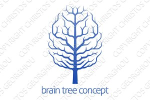 Brain tree of knowledge concept