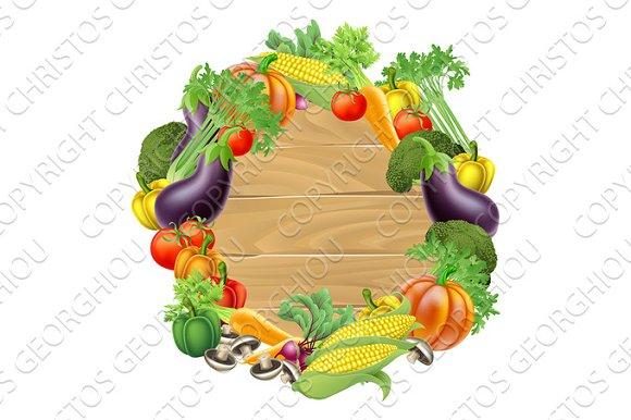 Vegetables Wooden Sign