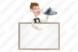 Platter Waiter Sign