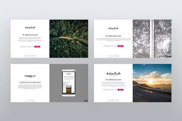 WordPress Landing Page Themes: NiteoThemes - CMP Fifty - Maintenance Landing Page