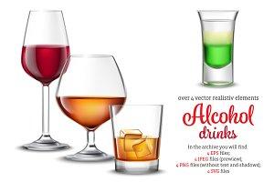 Alcohol Drinks Set