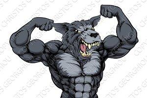 Wolf Animal Mascot
