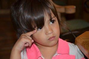 Little girl cute girl posing smart
