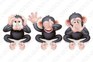 Hear no evil see no evil speak no evil monkeys