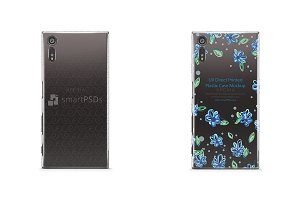 Sony Xperia XZ-PC Clear Case Mockup