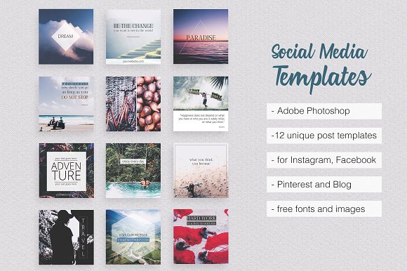 Asian Dream Social Media Pack Part Pinterest Templates - Social media post template