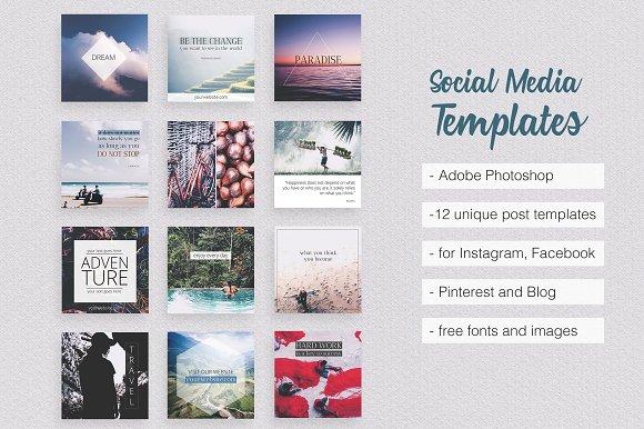Asian Dream Social Media Pack Part Pinterest Templates - Template for social media posts