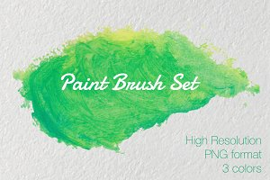 Acrylic Paint Brush Set, 3 colors