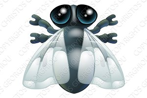 Cartoon fly bug