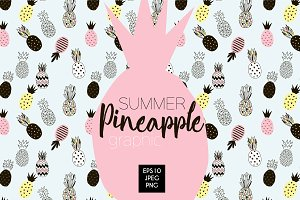 Decorative pineapple graphic