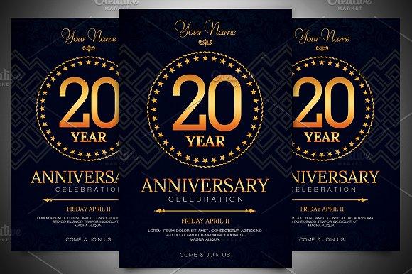 anniversary invitation template invitation templates creative market