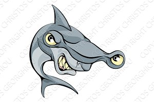 Hammer head shark cartoon