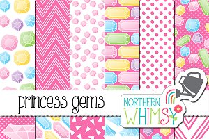 Pink Princess Gem Patterns