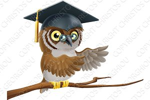 Owl graduate or teacher