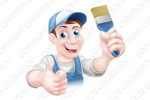 Man holding paintbrush