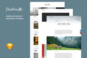 Creative Me · Blog Sketch Template