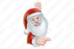 Cartoon Santa Pointing
