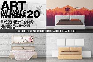 Canvas Mockups - Frames Mockups v 20