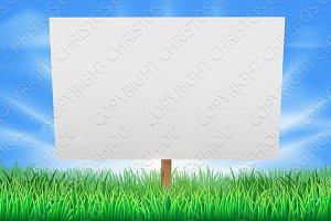 Summer field sign